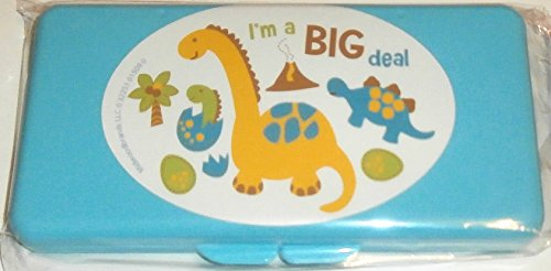 Blue I'm a Big Deal Baby Wipes Case