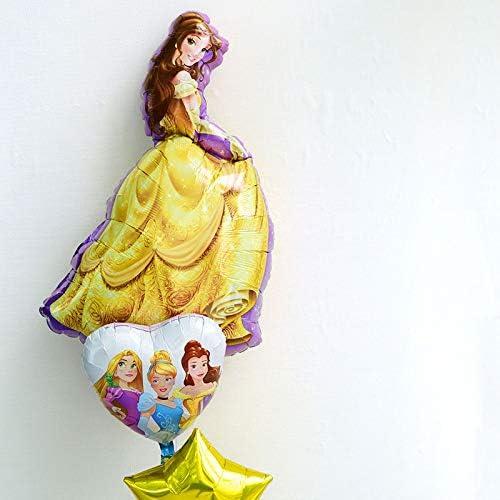 ディズニー 浮かせてお届け ヘリウムガス入り 美女と野獣 ベル (立姿) のバルーン スター ブーケ サブバルーン付き 星の色 白 誕生日 飾り付け バルーン電報 結婚式