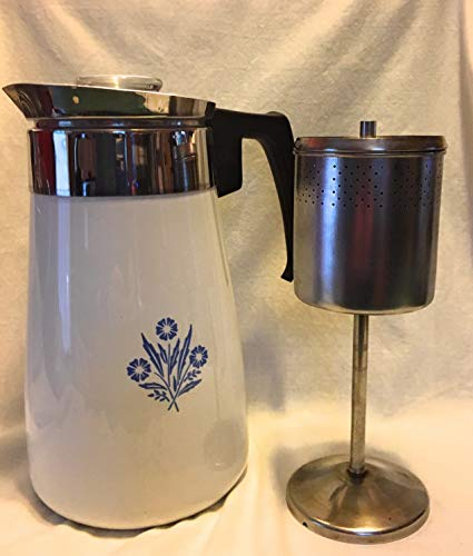 Corning Cornflower Blue 9-cup Coffee Pot