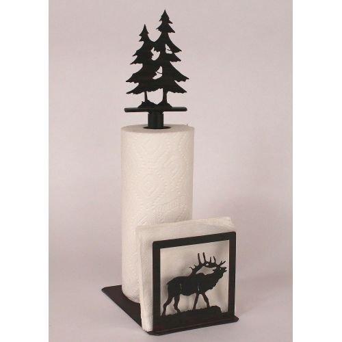 Coast Lamp Manufacturer 15-R26M Iron ELK & Tree Paper Towel & Napkin Holder
