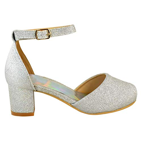 Bodas Mujer Por Dama Con Bajo Niño Fashion De Fiesta Heelberry Zapatos Sandalias Plata Tacón Purpurina Honor Niña Thirsty Diamante t1qxfv