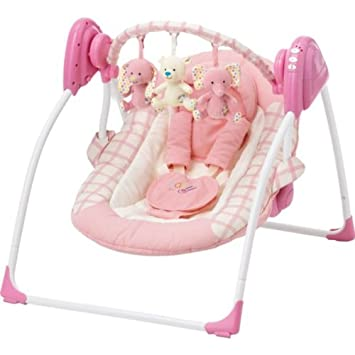 b4fec1484 Dazzling Baby by Chad-Valley Deluxe Baby Swing - Pink with ...