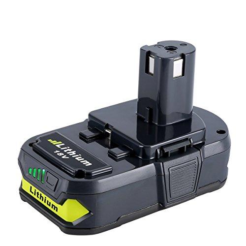 Biswaye 18V 2.5Ah 2500mAh Lithium Ion Replacement Battery for Ryobi ONE+ Plus P122 P102 P103 P104 P105 P107 P108 P109