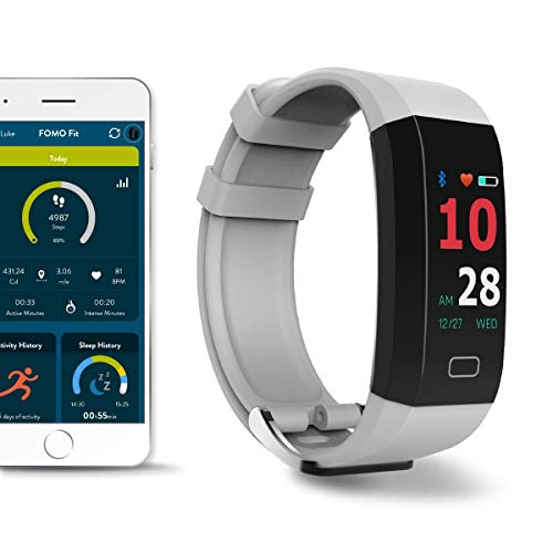 FOMO Fit 2019 Fitness Tracker Designed in California. Built-in GPS and Multi-Touch Color Screen. Automatically Track Your Heart Rate, HRV, Blood Pressure Fitness, and Sleep. Beautiful Mobile app.