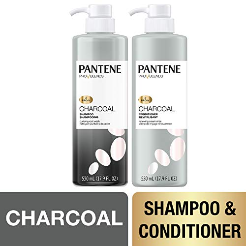 Pantene, Shampoo and Sulfate Free Conditioner Kit, with Activated Charcoal, Pro-V Blends, 35.8 fl oz