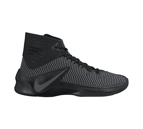 NIKE Zoom Clear Out Basketball Shoes 844370-001 Black/Metallic Silver-Anthracite (10.5)