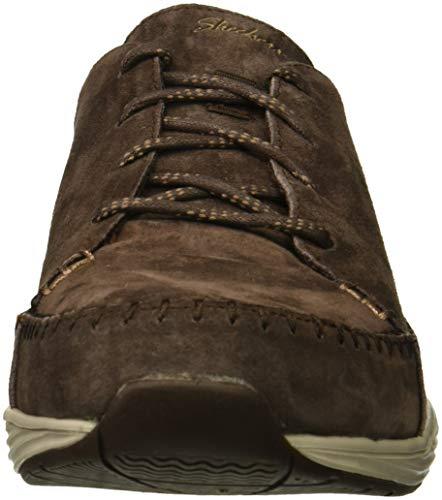 à Coupe Point Classique Chocolat Skechers49484 Mocassin Lacets Femme Baskets roulé Bout Seager Prospect nf0wxRqF0