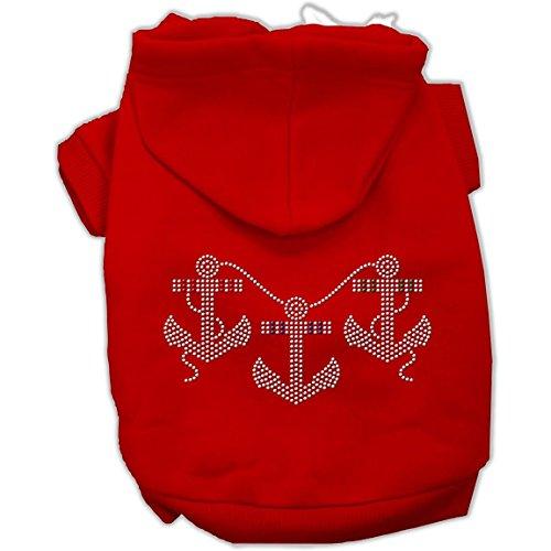 Rhinestone Anchors Dog Hoodie Red XXXL(20)