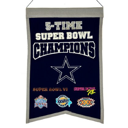 NFL Dallas Cowboys Super Bowl Champions Banner