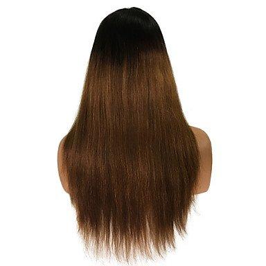 Las mujeres pelo humano peluca de encaje chino Remy encaje frontal sin pegamento Lace Front 130