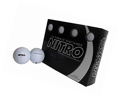 Ultimate Distance Nitro White Golf Ball 12 pk