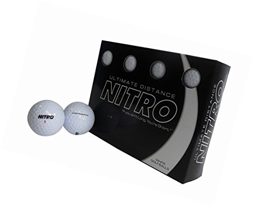 Ultimate Distance Nitro White Golf Ball 12 (Ultimate Distance Ball)