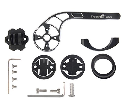TrustFire Garmin Bike Mount, Out Front Mount for Garmin Edge and Bryton GPS Bike Computer,Gopro Sports Action Camera (Black) by TrustFire (Image #1)