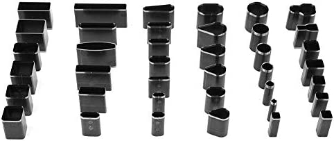 39 st/ücke Multi Form Leder Punch Tool Loch Hohlstanzform Telefon Leder Holster Punch Set f/ür DIY Handwerk