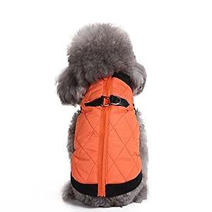 Selmai - Arnés tipo chaleco cálido e impermeable para perros y ...