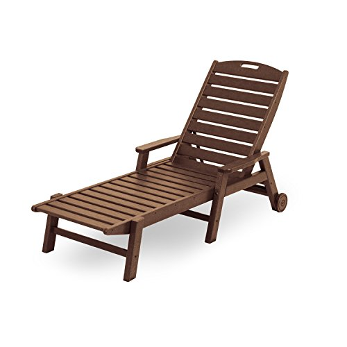 Nautical Lounge Chaise Wheel (Nautical Wheel Chaise Lounge with Arms Finish: Teak)