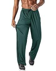 EKLENTSON Mens Mesh Pants Elastic Waist Drawstring Open Bottom Sweatpants
