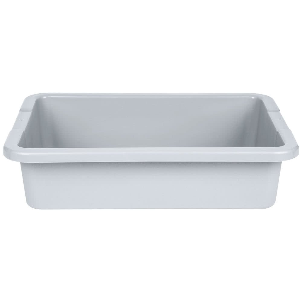 Rubbermaid 3349-92 20'' x 15'' x 5'' Gray Plastic Bus Box (FG334992GRAY)