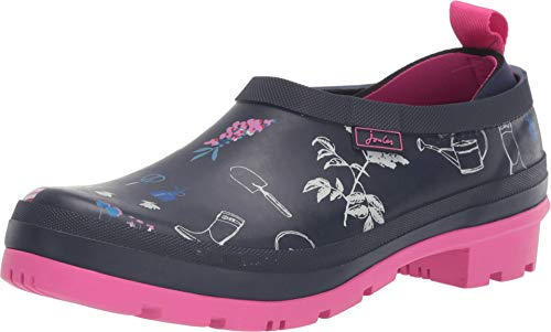 Joules Womens Printed Pop On Welly Clogs, Navy Garden, Size 9 (Womens Shoes Garden)