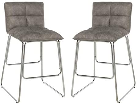 Hillsdale Furniture Beacon Hill Counter Height Stool Set of 2 , Weathered Gray