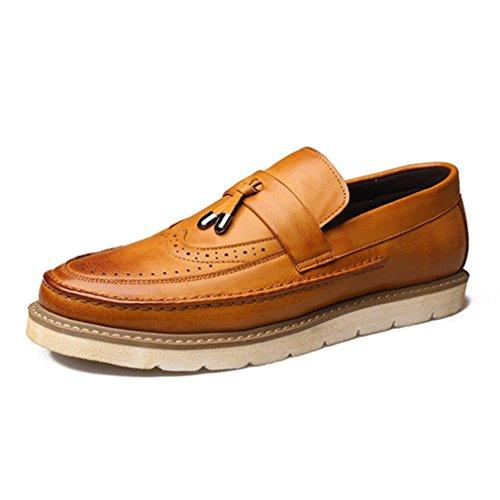 Brogue Loisirs Derby Loafers en Microfibre R
