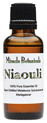 Miracle Botanicals Organic Niaouli Essential Oil - 100% Pure Melaleuca Quinquenervia - Therapeutic Grade - 30ml