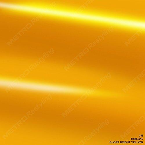 3M 1080 G15 GLOSS BRIGHT YELLOW 5ft x 1ft (5 Sq/ft) Car Wrap Vinyl - Tint G15