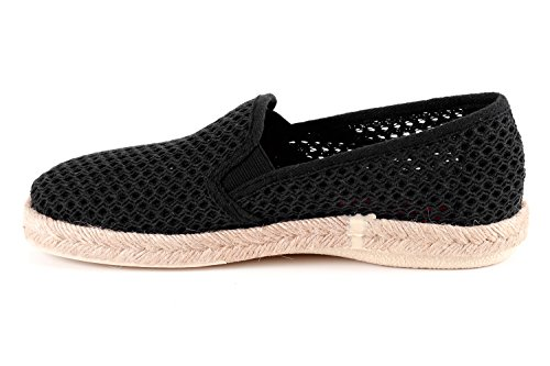 Am500 Unisex Color Zapatos Machado Slip Tela Caucho 44 borde Yute on Talla Negro De Con Andrés rFqfnxr