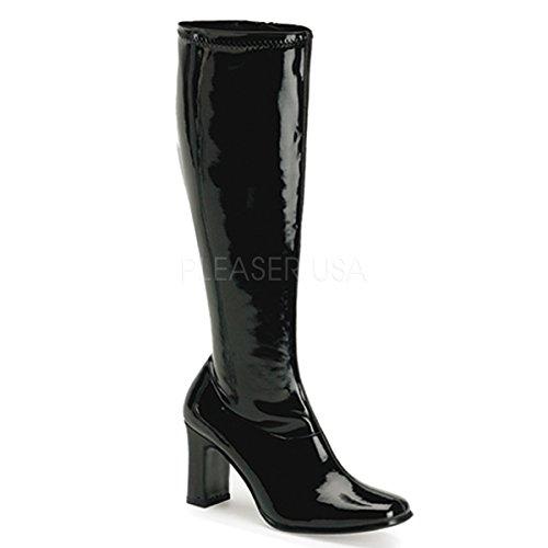 Funtasma Kiki-350 Dames Sandalen Zwart Stretch Patent