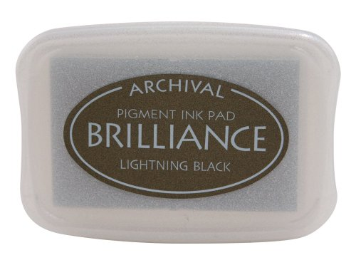 (Tsukineko Brilliance Pigment Inkpad, Pearlescent Lightning Black)