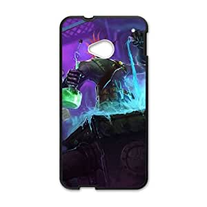 HTC One M7 Cell Phone Case Black League of Legends Mad Scientist Singed KWI8894890KSL