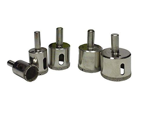 HOMEFUN 5 Pieces Precision Diamond Drill Bits Diamond Dust Hole (Holes Dust)