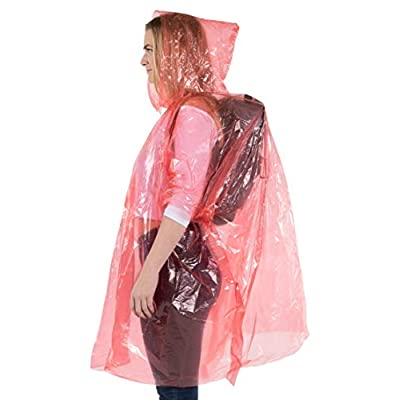 Wealers Poncho One Size Fit All with Hood 10 pieces in display box, 5 different colors 2 Red 2 Blue 2 White 2 Yellow 2 Green. Perfect to Keep in Emergency Kit, Backpack, Home, Office, Car, Pocket, In Case A Rainy Day.: Sports