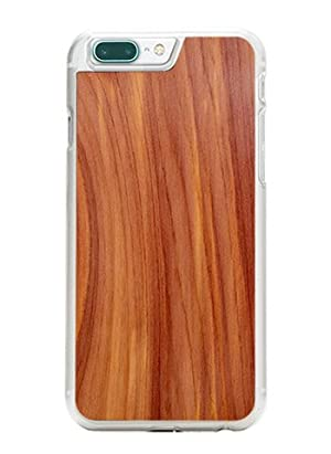 Carved Natural Collection - Wood Slim Clear Snap-On Case for iPhone 7 Plus - Wooden Cover Handmade In The USA