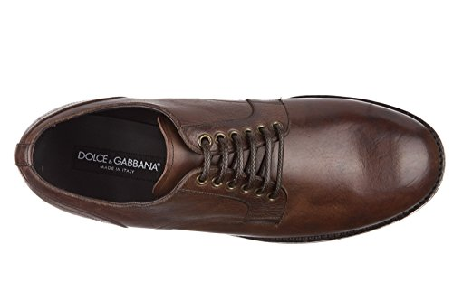 Dolce & Gabbana Mens Klassiska Läder Spets Upp Knytas Formella Skor Derby Giorgione S