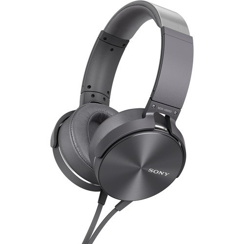 Sony Premium Lightweight Extra Bass Stereo Headphones With In-line Remote & Mic