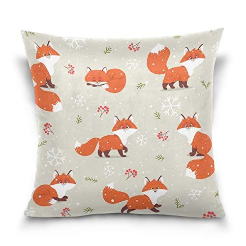 Jacksonnd Blithed for Kids Cotton Velvet Printed Pillowcase Decorative Sofa Hug Pillowcase A Square Pillowcase