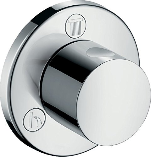 hansgrohe 15932000 Shut-Off/Diverter Valve S Trio/Quattro, Chrome, Silver ()