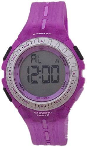 Dunlop DUN-140-L09 Reloj digital para mujer, de cuarzo con correa morada de goma: Amazon.es: Relojes
