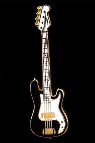 Electric Bass Guitar Pin – Black
