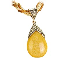 Clearance!! WYTong Women Rhinestone Amber Gem Jewelry Necklaces Bohemian Pendant Collar Necklace