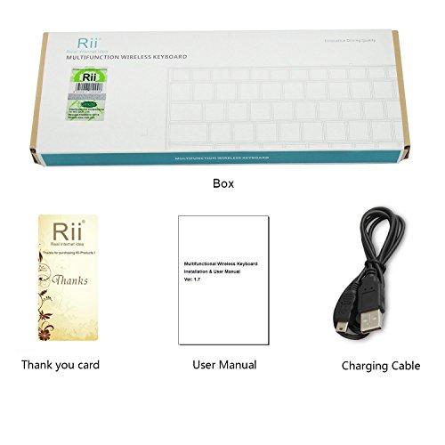 Rii K12BT Ultra Slim Portable Mini Wireless Bluetooth