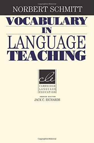Vocabulary in Language Teaching (Cambridge Language Education) from Brand: Cambridge University Press