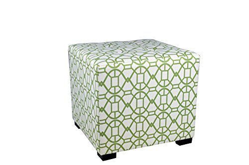MJL Furniture Designs Square Tufted Ottoman with a Contemporary Noah Design and Upholstered 4 Button Top Tuft, 19