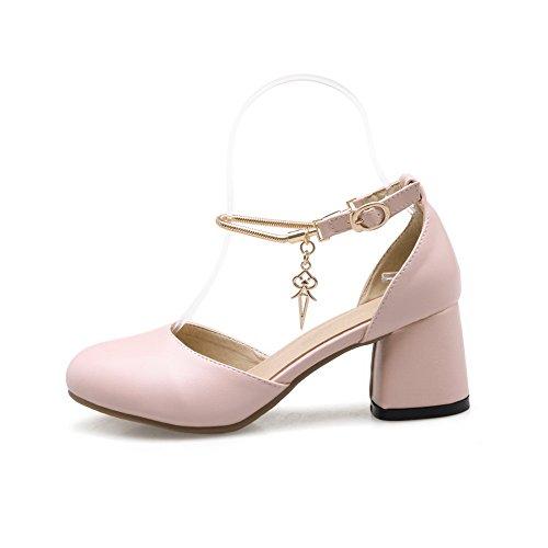 BalaMasa Womens Oversized Comfort Special-Occasion Urethane Sandals ASL04958 Pink jizkitL