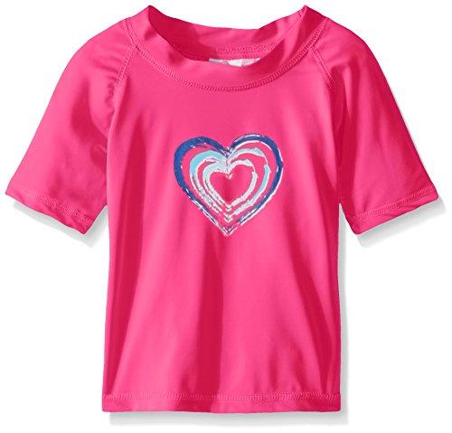 Kanu Surf Little Girls' Toddler Candy UPF 50+ Sun Protective Rashguard, Pink, 3T