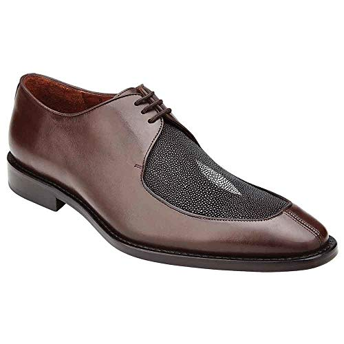 Belvedere Mario Brown Genuine Stingray and Italian Calf Men's Oxford Shoes - 12