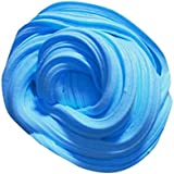 Fluffy Floam Slime Cotton Mud Toys Scented Stress Relief No Borax Kids Toy Sludge Toy (Blue)