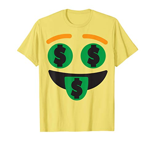 Money Mouth Face Emoji Easy Lazy Group Halloween Costume T-Shirt