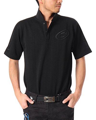 [ガッチャ ゴルフ] GOTCHA GOLF ポロシャツ ふくれ ジャカード ポロ 182GG1208 ブラック XXXLサイズ